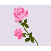 Вышитая патч-роза
