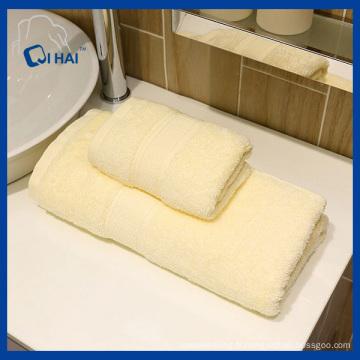 Serviette 100% en fibre de teint en fil massif (QHD887112)