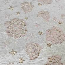 Розовая шелковая атласная дамасская жаккардовая ткань