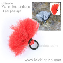 Indicador de ataque de fio de pesca com mosca