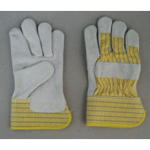 Cow Split Leather Full Palm Leahter Working Glove-3056.11