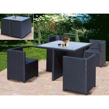 Restaurant Verwenden Rattan Outdoor Möbel Dining Set