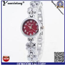 Yxl-410 Nueva Moda Damas Cuarzo Aleación Pulsera Reloj Cuarzo Elegante Reloj Mujeres