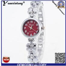 Reloj de pulsera YXL-806 flor forma Señora reloj pulsera Slim Vestido
