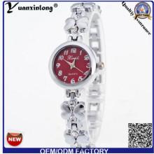 YXL-806 мода цветок форму Леди Смотреть платье тонкий браслет наручные часы