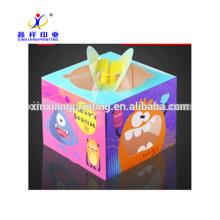 Caixa de empacotamento personalizada do bolo de papel do cartão para o aniversário