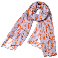 new arrival sale long printed scarf muslim woman new style hijab dubai printed blue fox scarf