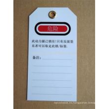 Resina ignífugo aislamiento de aluminio bloqueo etiqueta signo