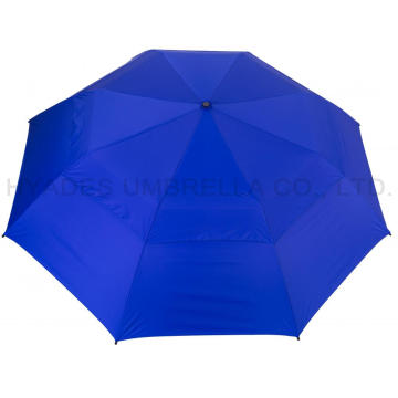 Ukuran Besar Vented Double Layered Folding Golf Umbrella