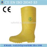 2016 New Style Steel Toe PVC Rain Boots