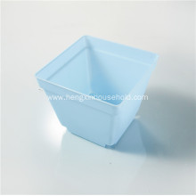 Small Square Flower Pots with Tray Saucer