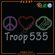 Peace Love Troop 535 motivo de la revisión
