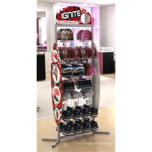 Personalized Heavy Duty Uv Printing Logo Floor Standing Commercial Display 2-Way Crochet Hat Rack