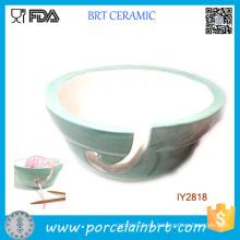 Cuenco de cerámica de la menta pastel Cuenco de lana de titular