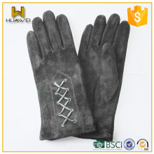 Classical Belt Womens 100% Genuine Leather Ladies Goat Suede Gloves