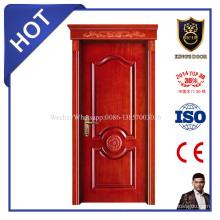 Puerta sólida laminada madera de la venta caliente del estilo europeo con la cabeza superior