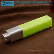 Loción rotatorio de forma cuadrada de 50ml de ZB-RK50 50ml alta gama cosmética verde botella privada de aire de la bomba