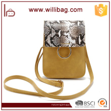 Lady Shoulder Bags Snake Skin PU Design Factory Sale Messenger Bags For Woman