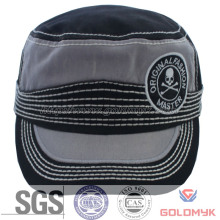 Washed Cotton Army Hat with Bold Thread
