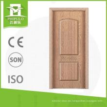 Puerta de madera de melamina interior de panel MDF de la marca Phipulo.