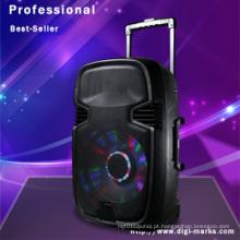 Alto-falante portátil sem fio bluetooth com luz LED