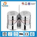 Novos produtos da china para venda3pcs spice rack tempero set / aço inoxidável sal e pimenta shakers