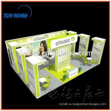Rápido y fácil de montar stand de exposición comercial de aluminio de Shangai