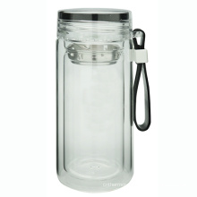 Double Wall Glass Bottle with Loop