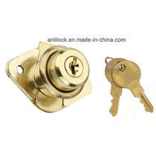 Rhombus Drawer Lock, Golden Drawer Lock Al-106g