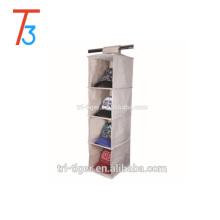 4-Shelf non woven and cardboard shoe organizer