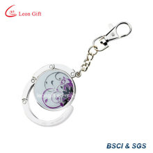 Zinc Alloy Keychain / Keyring Bag Holder Custom Epoxy Logo