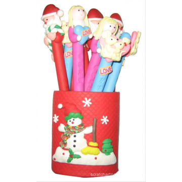 art and craft promotional kids cute polymer clay ball-point ball pen