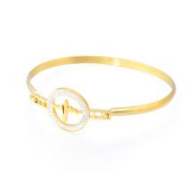 Venda quente Senhora Charme Pulseira Modelos Handmade Gemstone Bangle Gold