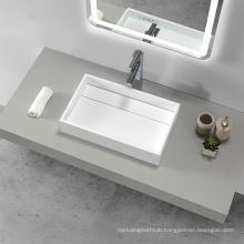 Bathroom Solid Surface UPC Countertop Wash Sink Above Counter Washbasin