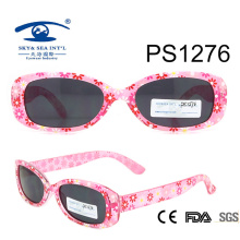 China Wholesale Flower Patten Colorful Kid Plastic Sunglasses (PS1276)