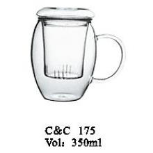 Hot Selling Clear Pyrex Glass Flower Teapot with Infuser Made in China Wholesale