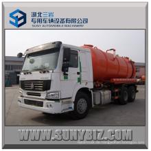 20m3 Sinotruk HOWO Vakuumabsaugung Abwassertank LKW