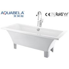 Акриловая классическая крытая ванна с 4 металлическими ножками (JL620)
