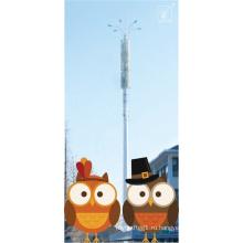 GSM Телеком Гальванизированная стальная monopole Башня на железнодорожной станции