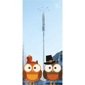 Torre monopole de aço galvanizada telecomunicações da G / M para a estação de trem