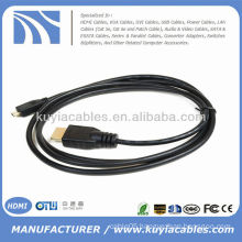 Micro HDMI to HDMI male Cable for mobile Droid Razr Atrix 2 Droid X HTC EVO 4G