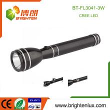 Fábrica Atacado 2AA Bateria Ni-MH Usado Material Metal Beam longo Camping 3w de alta potência recarregável levou lanterna