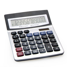 12 Digits Dual Power LCD Display Office Desktop Calculator