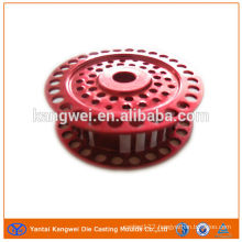 anodized fishing reel with die casting