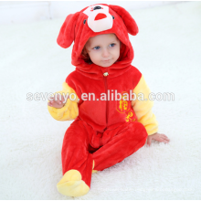 Soft baby Flannel Romper Animal Onesie Pajamas Outfits Suit,sleeping wear,cute red cloth,baby hooded towel