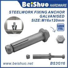 M16X26X120 DIN Standard Galvanised Hex Head Anchor Bolt for Steelwork