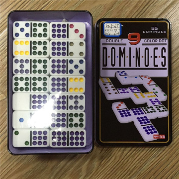 Double 9 Dominoes Set In Tin Box