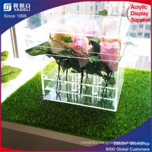 High Quality Square Acrylic Flower Box with Lid