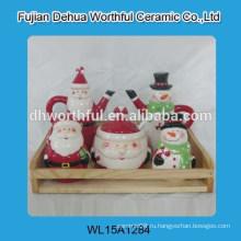 Причудливый керамический приправа горшок и перец шейкер в форме Рождества