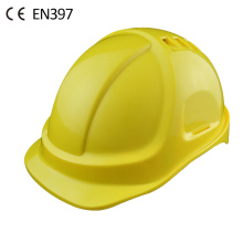 CE construction industrial ABS safety helmet with vents